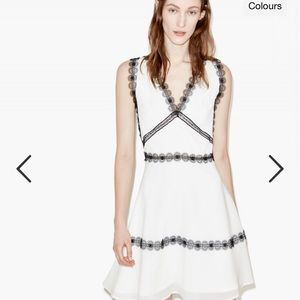 The Kooples White and black lace dress